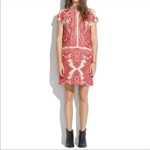 Madewell | Cream & Red Paisley dress | medium